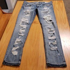 Rag and Bone Destroyed Dre Skinny Jeans 29